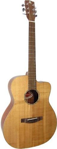 Ashbury 00014C-SYX-E - Guitarra electroacústica (pastillas piezoeléctricas, puente fijo)