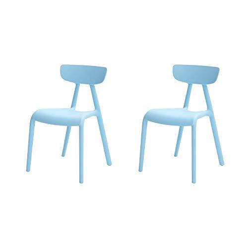 SoBuy KMB15-Bx2 2er Set Kinderstuhl mit Lehne Kinder-Schreibtischstuhl Stühlchen Hellblau Sitzhöhe 34cm