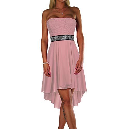 ALZORA Damen Kleid Bandeau Abendkleid Cocktailkleid mit Spitze Partykleid Ballkleid Sommerkleid,...