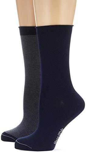Marc O'Polo Body & Beach Damen W 2-Pack Socken, Blau (Navy 815), 35/38 (Herstellergröße: 400) (2er Pack)