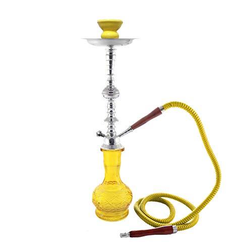 1- Hose Exotic Shisha Yellow Luxury pipe chicha Narguila cachimba - no tobacco no nicotine