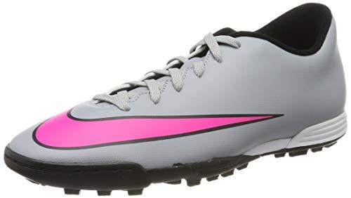 Nike Herren Mercurial Vortex II TF Fußballschuhe, Grau Rosa schwarz Wolf Grau Hyper Pink schwarz schwarz, 43 EU