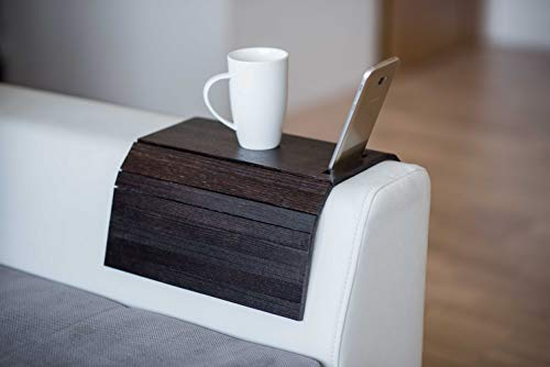 Vassoio in legno da divano, protezione per braccioli, tavolino da divano, sottobicchiere, vassoio per divano, portatelefono colore 5.
