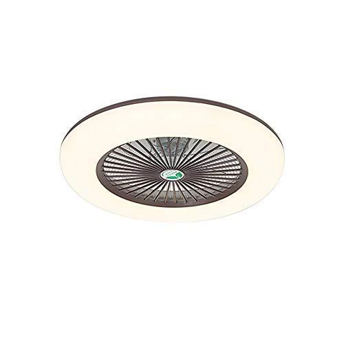 Lixada Deckenventilator mit Beleuchtung LED-Licht Einstellbare Windgeschwindigkeit mit Fernbedienung Ohne Batterie 36W Moderne LED-Deckenleuchte für Schlafzimmer Wohnzimmer Esszimmer,Braun