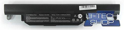 LI-TECH Batería compatible 5200 mAh para Asus F55V 10,8 V 11,1 V de repuesto 57 Wh Notebook