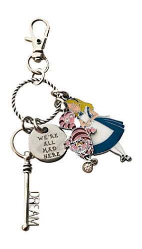 Alice in Wonderland Key Chain with Gift Packaging Alice in Wonderland Jewelry KeyChain Lover