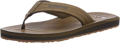 Quiksilver Herren Carver Nubuck - Sandals for Men Zehentrenner, Beige (Tan-Solid Tkd0), 39 EU