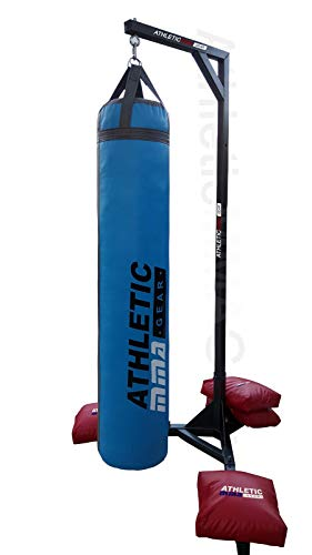 AthleticMMAGear Muay Thai Heavy Bag Stand 370 LB Capacity. Heavy Duty Punching Bag Stand Comes with...