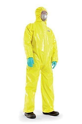 Flüssigkeitsdichter Infektions Schutzanzug Gr. M Honeywell SPACEL mit integrierten Handschuhen und Füsslingen, Kat III Typ 3, 4, 5 und 6 -...