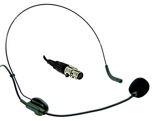 Audibax - HEADSET-XLR - Micrófono de Diadema - Óptimo para Exteriores - Micrófono de Diadema para Petaca Mini XLR - Incluye Espuma Paravientos - Flexo Ajustable - Cascos con Micrófono