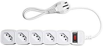 Protetor Eletrônico com 5 Tomadas e Cabo de 3M Epe 205 + Branco Intelbras