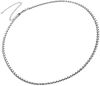 SULTAN Accessories Sparkling White Silver Plated, 39 Inch Crystal Belly Chain for Women