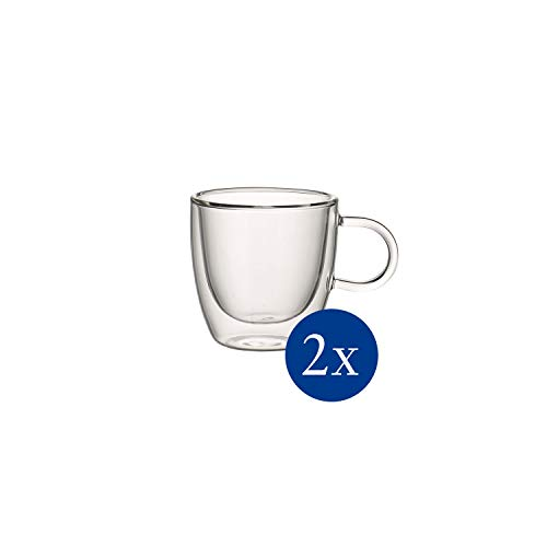 Villeroy & Boch Artesano Hot & Cold Beverages Tasse S, 2er-Set, 110 ml, Borosilikatglas, Klar