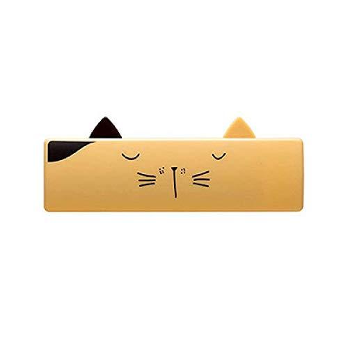 LKU huisdierkam hondenkat borstel mini draagbare opvouwbare wasgoed wassen dierenhaarverwijderaar borstel tapijt blad stofzuiger, geel, 10,3 x 3,8 cm