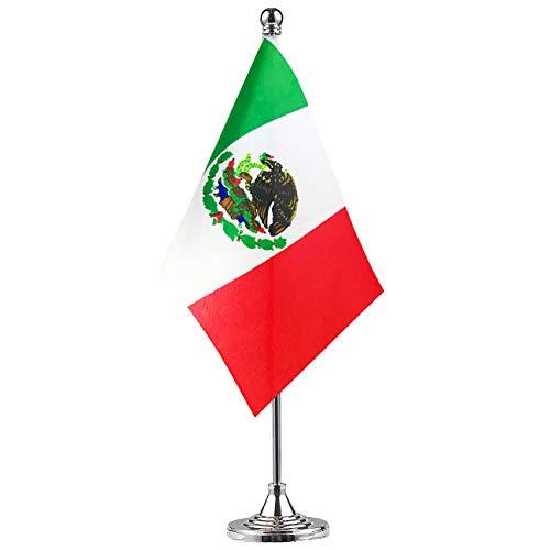 GentleGirl Mexico Flag Mexican Flag Table Flag,Desk Flag,Office Flag,International World Country Flags Banners,Festival Events Celebration,Office Decoration,Desk,Home Decoration