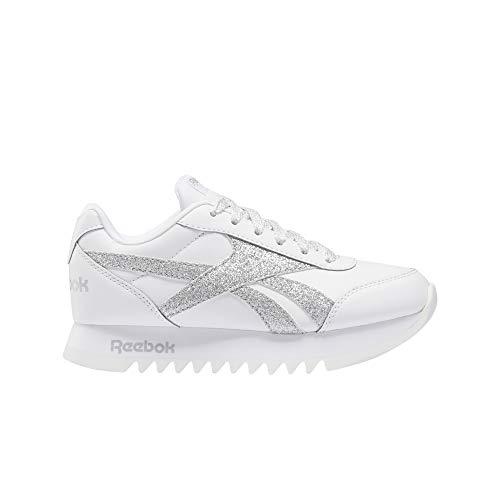 Reebok Royal CLJOG 2 Platform, Zapatillas Mujer, Blanco/Plamet/Blanco, 38 EU