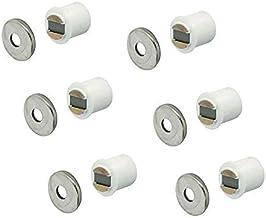 Gedotec Magnetische snapper wit meubelsnapper voor 9 mm houtboring | inboormagneet 2,5 kg houdkracht | magnetische sluitin...