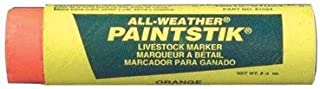All-Weather Paintstik Livestock Markers - ma 61024 all weather paint stick orange [Set of 10]