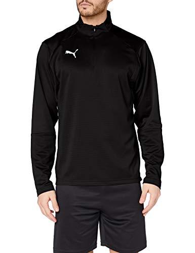 PUMA LIGA Training 1/4 Zip Top T-Shirt - Black/White, Medium