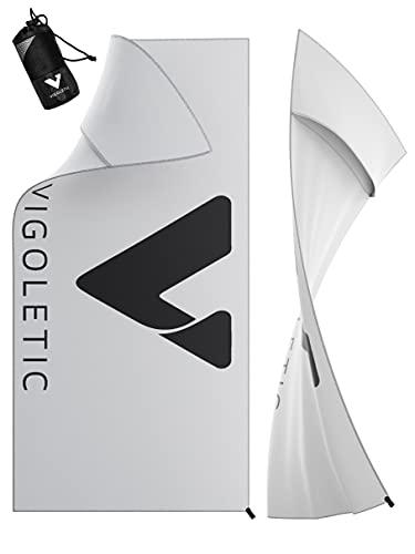 VIGOLETIC Gym Towel PRO - Damen und Herren - Mikrofaser- Sporthandtuch - Rutschsicher & Schnelltrocknend Dank Quickdry Struktur - Fitness Handtuch optimiert für Fitnessstudio, Outdoor Sport, Reise