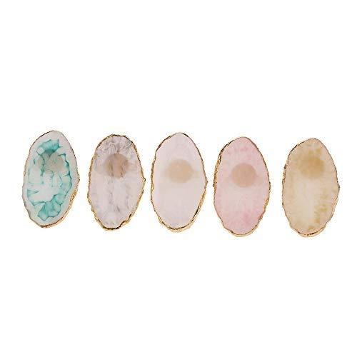 Anself Extension de cil anneau de colle résine de cristal anneau de cils Adhésif Stand pigmentaire Multifonction Palette