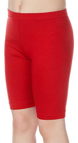 Merry Style Leggings Corti Bambina e Ragazza MS10-132 (Rosso, 128 cm)
