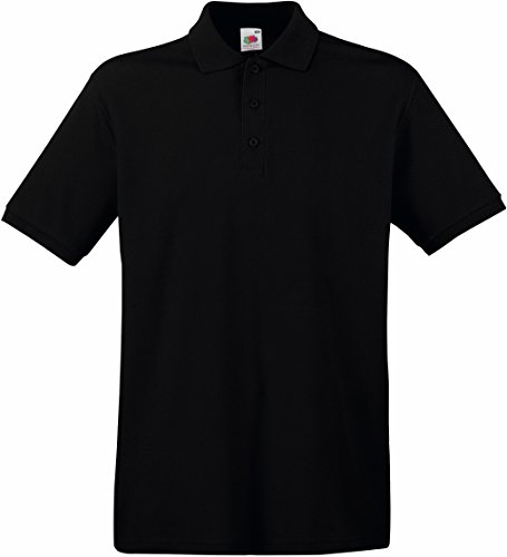 Fruit of the Loom Premium Polo Schwarz XL