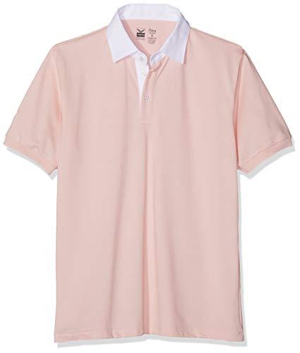 Trigema Herren Trigema Herren / Polohemd mit Stilechtem Hemdkragen - 100% Baumwolle Kurzarm 627608 Poloshirt, Rosa (rosé 132), 3XL EU