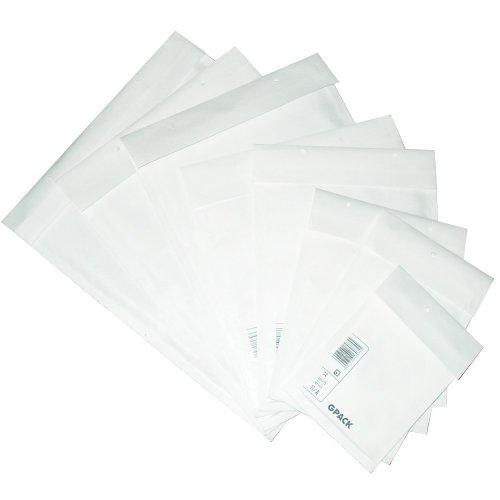 Prodye Luftpolstertaschen E15, 240x270mm passend für 3 x 14mm oder 6 x 7 mm DVD-Hüllen, 100 Stück, Weiß