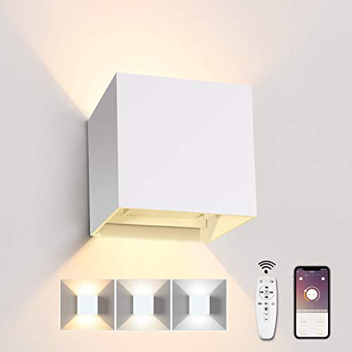 Lámpara LED de pared interior con mando a distancia 20 W