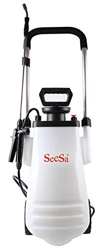 AFDLT Multifunctionele druksproeier, (12 l) capaciteit autowassproeier, instelbare koperen mond, handleiding, draagbaar, wagen, plantengieter