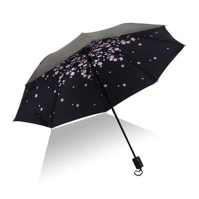 PPGG paraplu's 14 kleuren drievoudige paraplu regen vrouwen niet-automatische zomer paraplu's kleine verse zonnebrandcrème mini zon paraplu 2019 mode als foto8