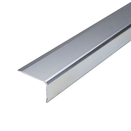 Cierre de Escaleras 1.5m Longitud L Forma de L de Aluminio Anti resbalón Sin Deslizamiento Rose 35x20mm ángulo Escaleras de Borde Perfiles de escaleras 2 PCS Exterior e Interior