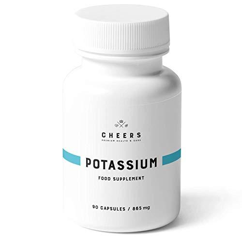 Tabletas de Citrato de Potasio - (260 mg) - Citrato de Potasio Puro 90 Cápsulas Veganas - La absorción más alta en Suplementos de Potasio - Cheers