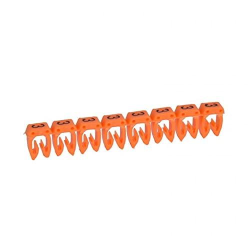 Marcador para cableado de 1,5 a 2,5 mm² n°3, color naranja, 18,7 x 6,5 x 3,2 centímetros (referencia: Legrand 38223)