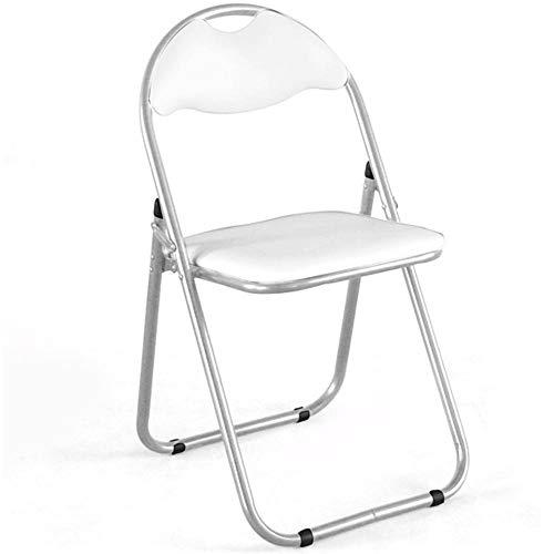 BAKAJI Set 6 Pezzi Sedie Imbottite Pieghevoli Salvaspazio Colore Bianco Struttura Silver Sedia Metal