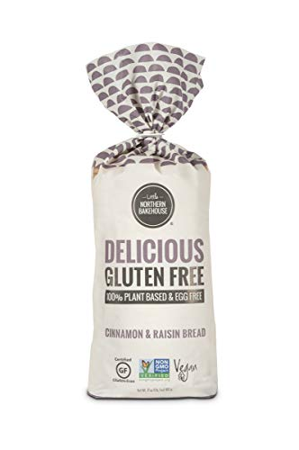 Little Northern Bakehouse Gluten Free Sliced Cinnamon Raisin Bread 17 ounce (Pack of 6)