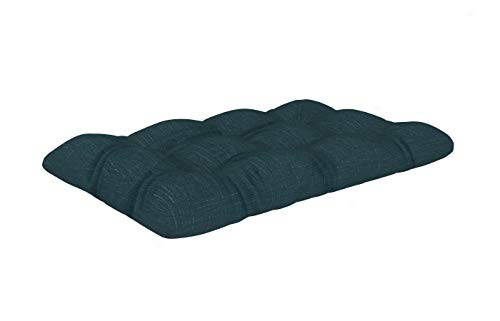 POKAR Cuscino-Sedile Imbottito 120x80x12cm per Divano da Giardino, Fodere asportabile e Lavabile, per Bancali, Comoda Seduta per Interno ed Esterno, DYI - Fai da Te, Senza Pallet, Verde Scuro