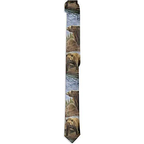 Kostuum Accessoire Beren Liefhebbers Patroon Neckties Mode Zijde Neckties Nieuwigheid Neck Ties voor Mannen Teen Jongens