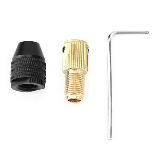 Fafeicy 0,3-3,4 MM Mandrino Autoserrante in Miniatura, Mini Accessori per Trapano Elettrico, per Foratura, Lucidatura, Molatura