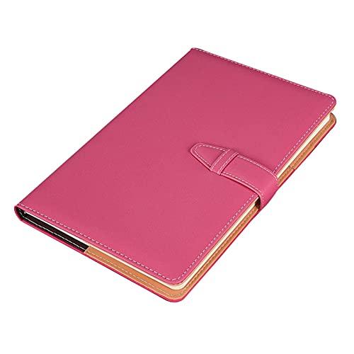 FACHAI Cuaderno A5, cuaderno de oficina con tapa dura de piel, cuaderno con rayas con soporte para bolígrafos y marcadores, 200 páginas, 14,8 x 22 cm (5,82 x 8,66 pulgadas)
