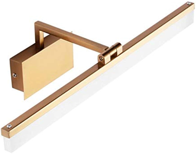 Spiegellampen Bad, Modern Wasserdicht Acryl LED-Anzeige für Schatten Badleuchte Badlampe, Spiegelschrank Leuchte,62cm-14W_Warm Weiß