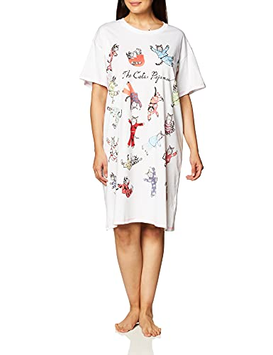 Little Blue House By Hatley Women's Crew Neck Sleepshirt,The Cats Pajamas, One Size