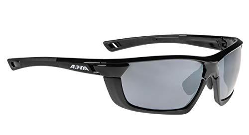 ALPINA TRI-SCRAY MF Sportbrille, Unisex– Erwachsene, black-black matt, one size