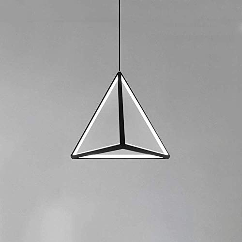 Vinteen LED 27W American Country Dimming Chandelier Industrial Retro Attic Triangle Pendant Light Antique Wrought Iron Ceiling Hanging Lamp Bedroom Balcony Restaurant Retro Adjustment Line