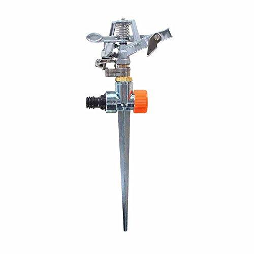 Preisvergleich Produktbild Siena Garden Impuls- / Sektorenregner,  Rasensprinkler,  Sprenger,  silber,  29x12x5cm,  399837