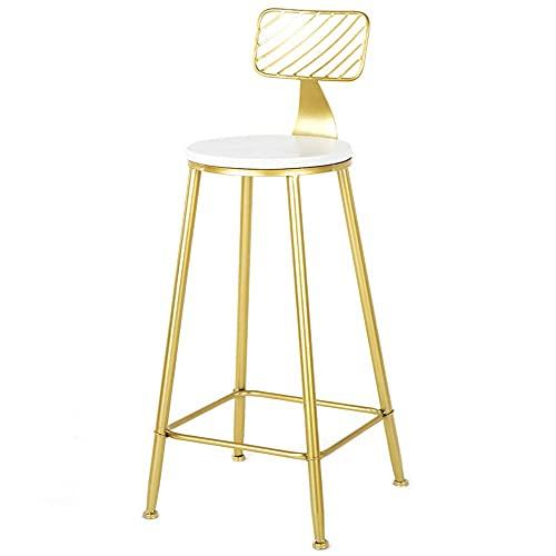 PIVFEDQX Barhocker JH Gold High Hocker, Home Back Bar Chair, Schmiedeeisen Pine Lounge Chair, 75 cm sitzender High Coffee Hocker