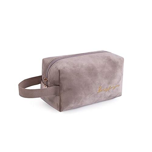 Huiyue Bolso cosmético Soft Cosmetic Storage Bag Cushion Cosmetic Bag Travel Cosmetic Bag Storage Bag Cosmetic Bag (Color : D4 Khaki)