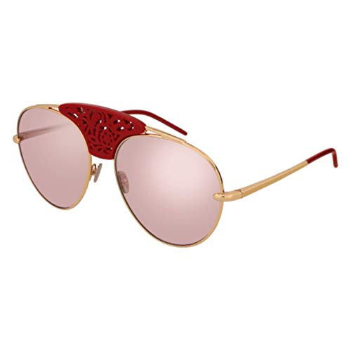 Pomellato PM0033S 004 Gafas de sol, Dorado (004-Gold/Pink), 59 para Mujer
