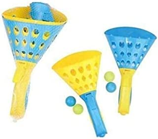 DUL DUL ® Click and Catch Twin Ball Game- Indoor Outdoor Mobile Eraser Toy Set Garden Toy Set Pop Summer Fun Play Ball Gam...